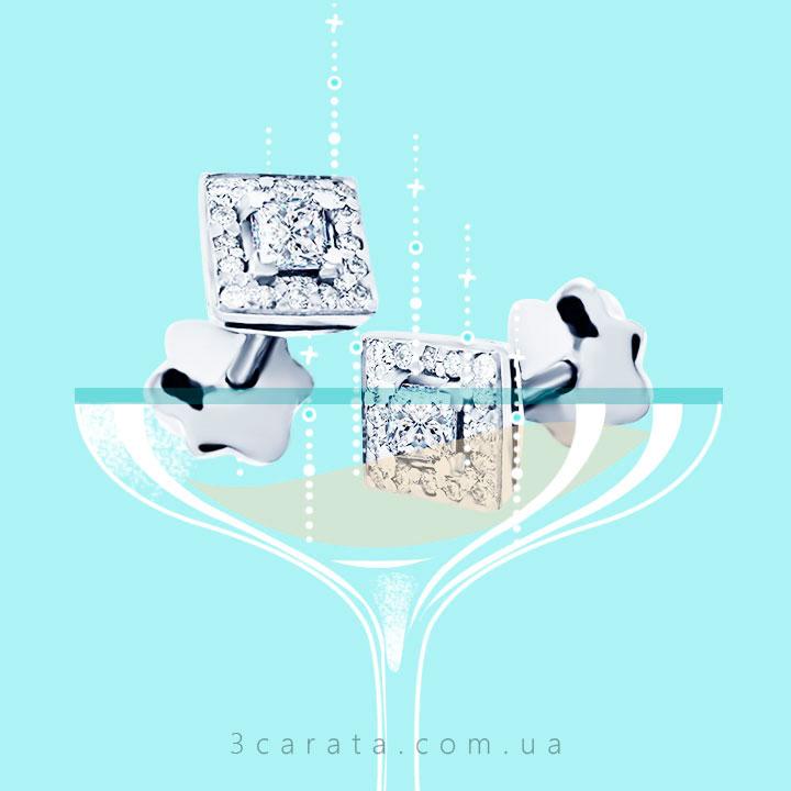 Золотые серьги с бриллиантами 'Pret-a-porte'