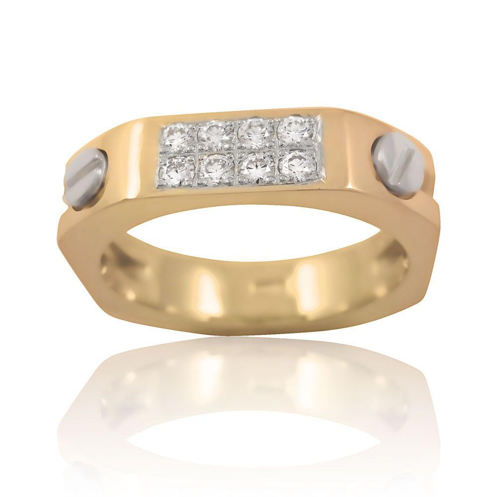 Золота каблучка діамант