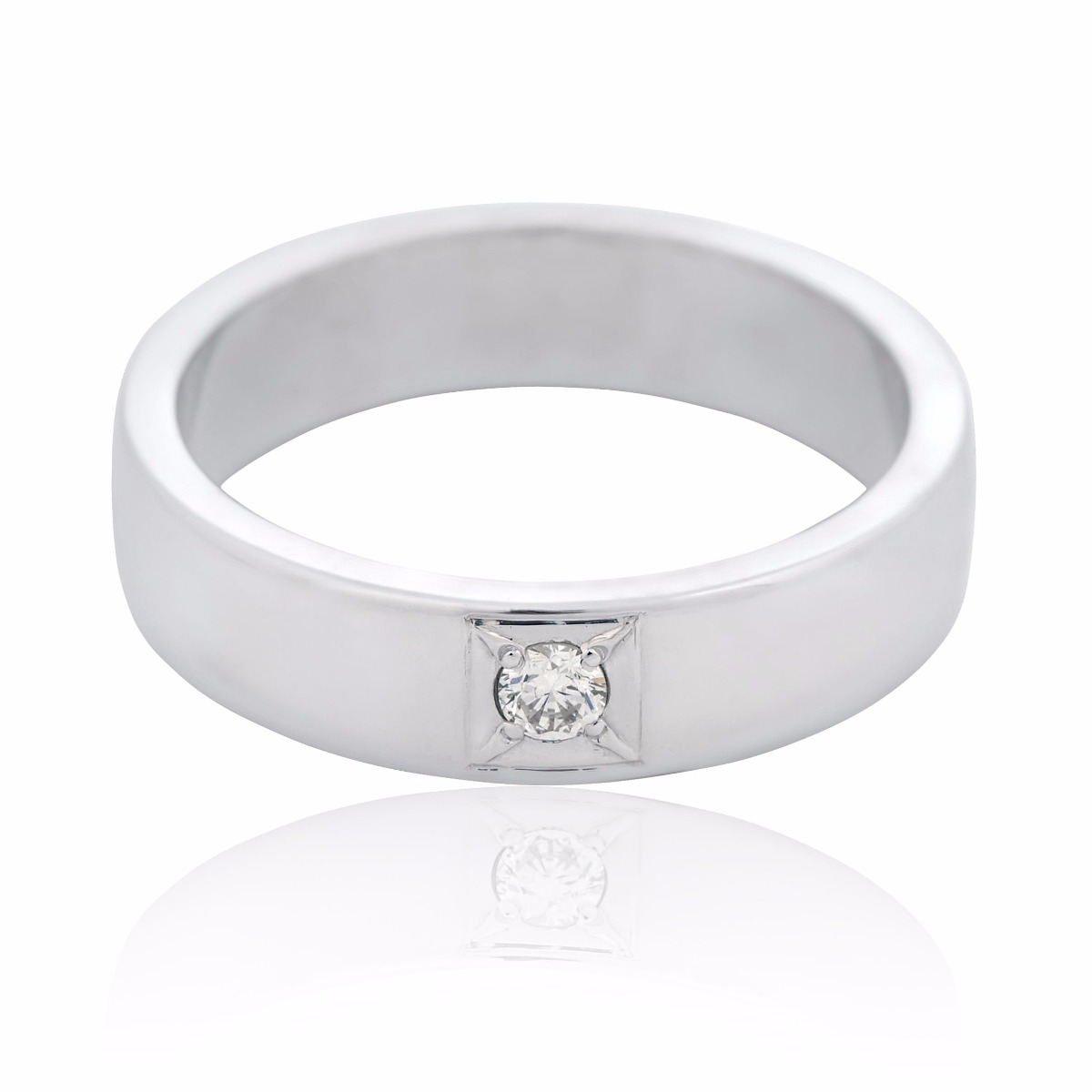 Золотое обручальное кольцо бриллиант