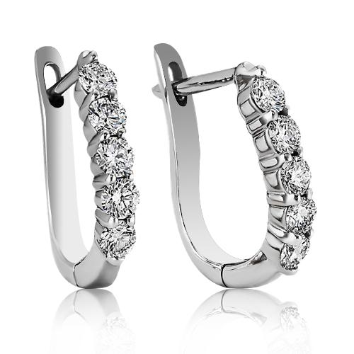 Золоті сережки з діамантами 'Quirino' ювелірний-інтернет магазин 3Карата