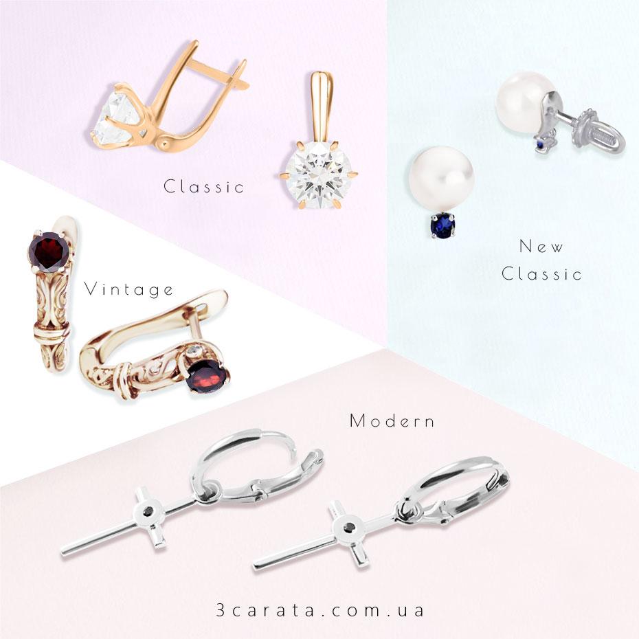 Золоті сережки ювелирного інтернет-магазина 3Карата