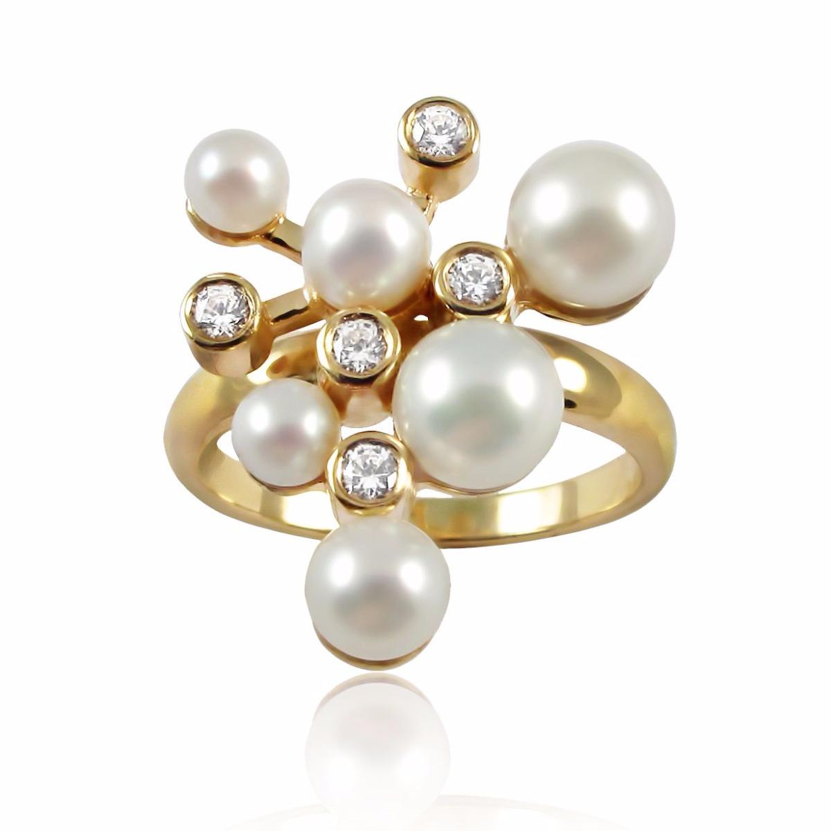 Золотое кольцо жемчуг