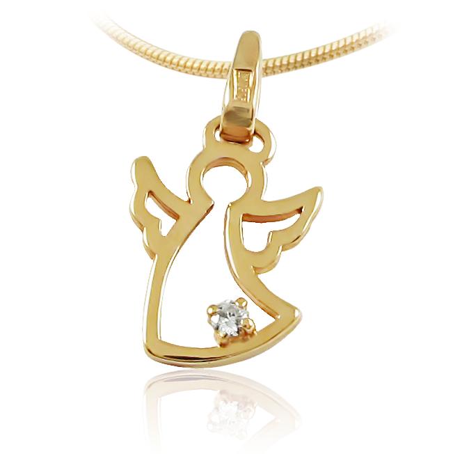 Золотой кулон бриллиант