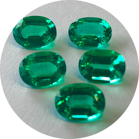Colombian color emerald