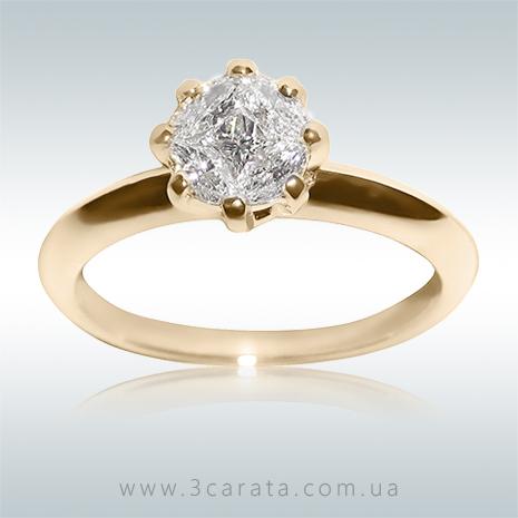 Элитное кольцо на помолвку с 5 бриллиантами 'Touch of love'