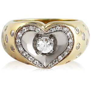 Кольцо с сапфиром 'Сердце для тебя'