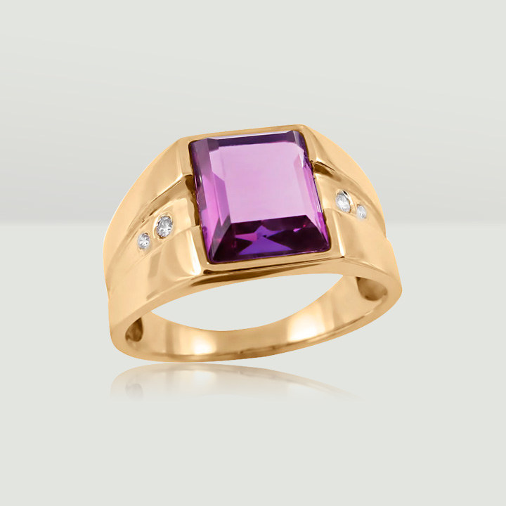 Золотой перстень с александритом 'LandLord'