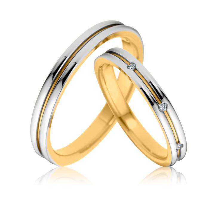 Обручальное кольцо с кубическим цирконием 'Best day'