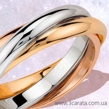 Обручальное кольцо из трех колец 'Trinity' Ювелирный интернет-магазин 3Карата