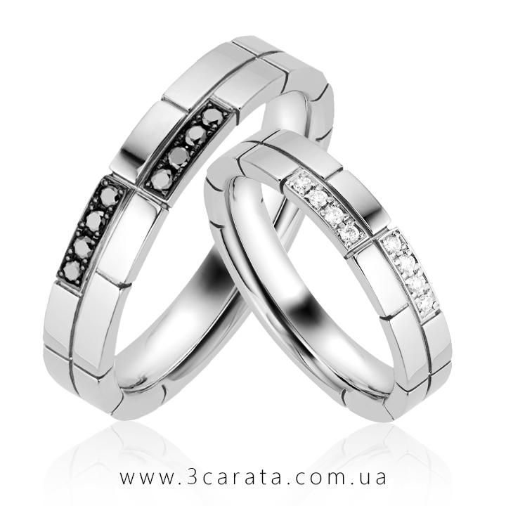 """Парные обручальные кольца """"Жених"""" и """"Невеста"""" - 3 Карата"""