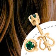 Золоті сережки з топазами