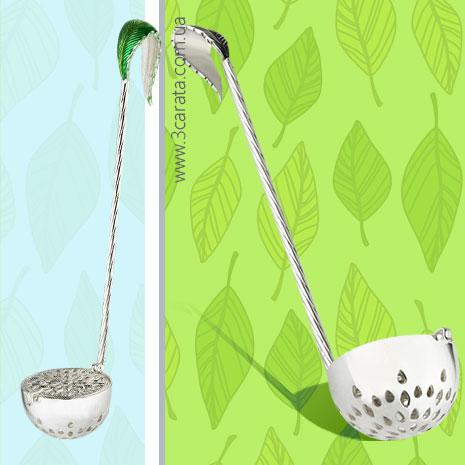 Серебряное ситечко для чая 'Одуванчик'