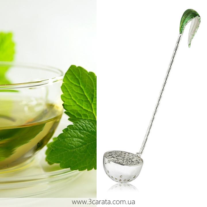 Срібне ситечко для чаю 'Кульбаба'