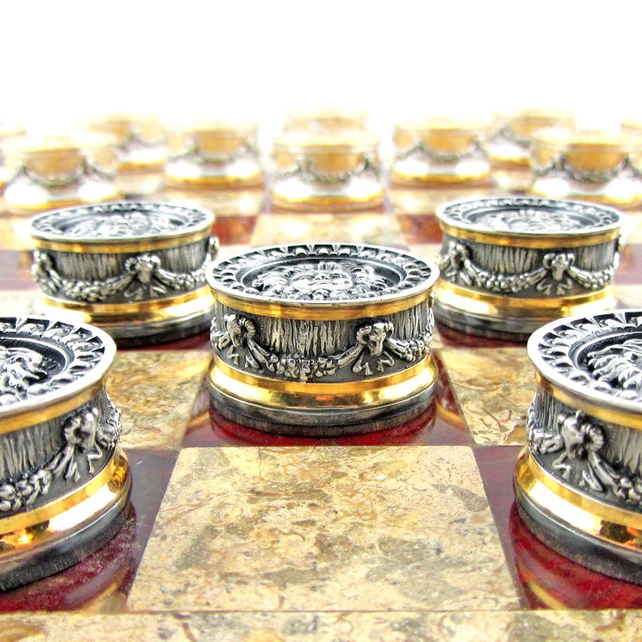 Срібні шашки 'Боги і Титани'