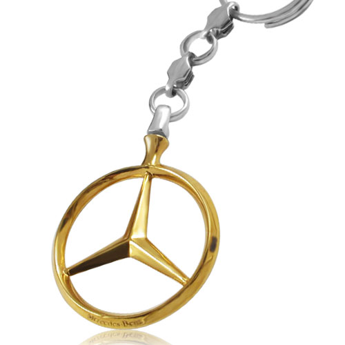 Срібний брелок з позолотою  'Mercedes'