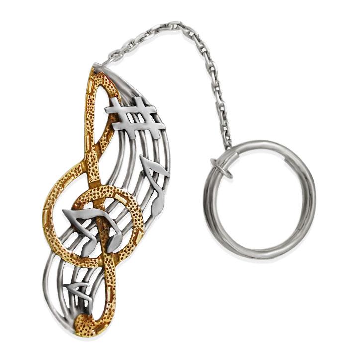 Срібний брелок 'Скрипковий ключ'