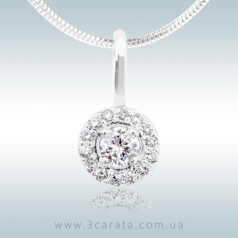 Золотая круглая подвеска с бриллиантами 'Арида'