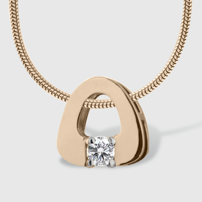 Золотий кулон з діамантом