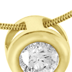Золотая подвеска бриллиант