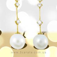 Золоті сережки з перлами 'Natalie'
