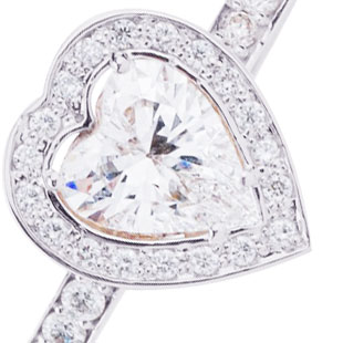 Ексклюзивна каблучка на заручини 'Діамантове серце'