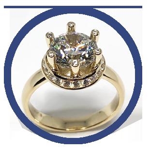 Золотые кольца с цирконием ювелирного интернет-магазина 3Карата