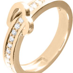 Золота каблучка з діамантами 'Любов на віки'