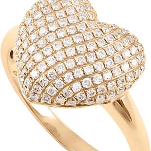 Золоте кільце з діамантами 'Моє серце'