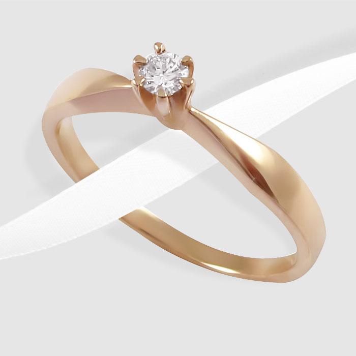 Золота каблучка з діамантом  Пані Луїза  Ювелірний інтернет-магазин 3Карата 4f50f181c2e04