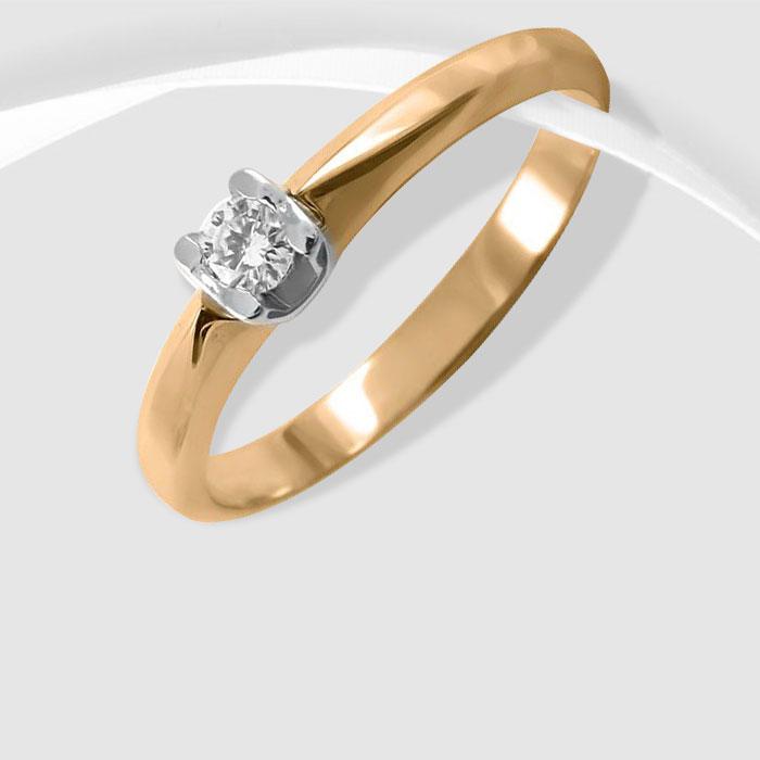 Золота каблучка з діамантом  Згода  Ювелірний інтернет-магазин 3Карата 7d990a8e262af