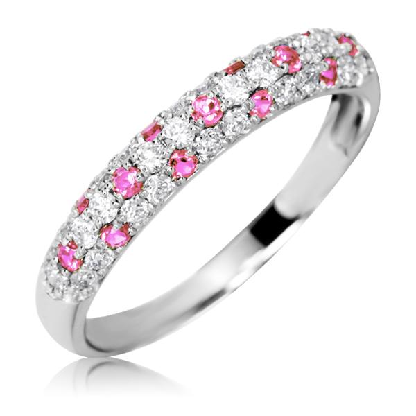 Золотое кольцо с сапфирами и россыпью бриллиантов 'Monpasie'