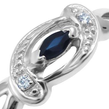 Золотое кольцо с сапфиром 'Romantic evening'