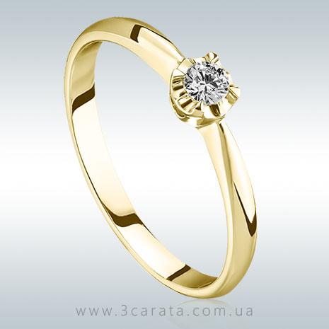 Золотое кольцо солитер для предложения 'Лалла'