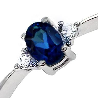 Золотое кольцо с сапфиром 'Сокровище''