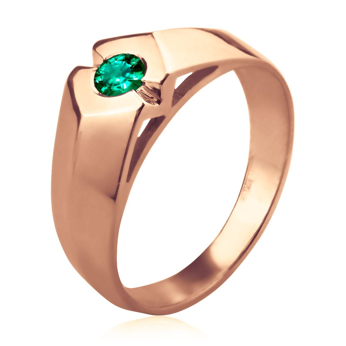 Мужской перстень изумруд