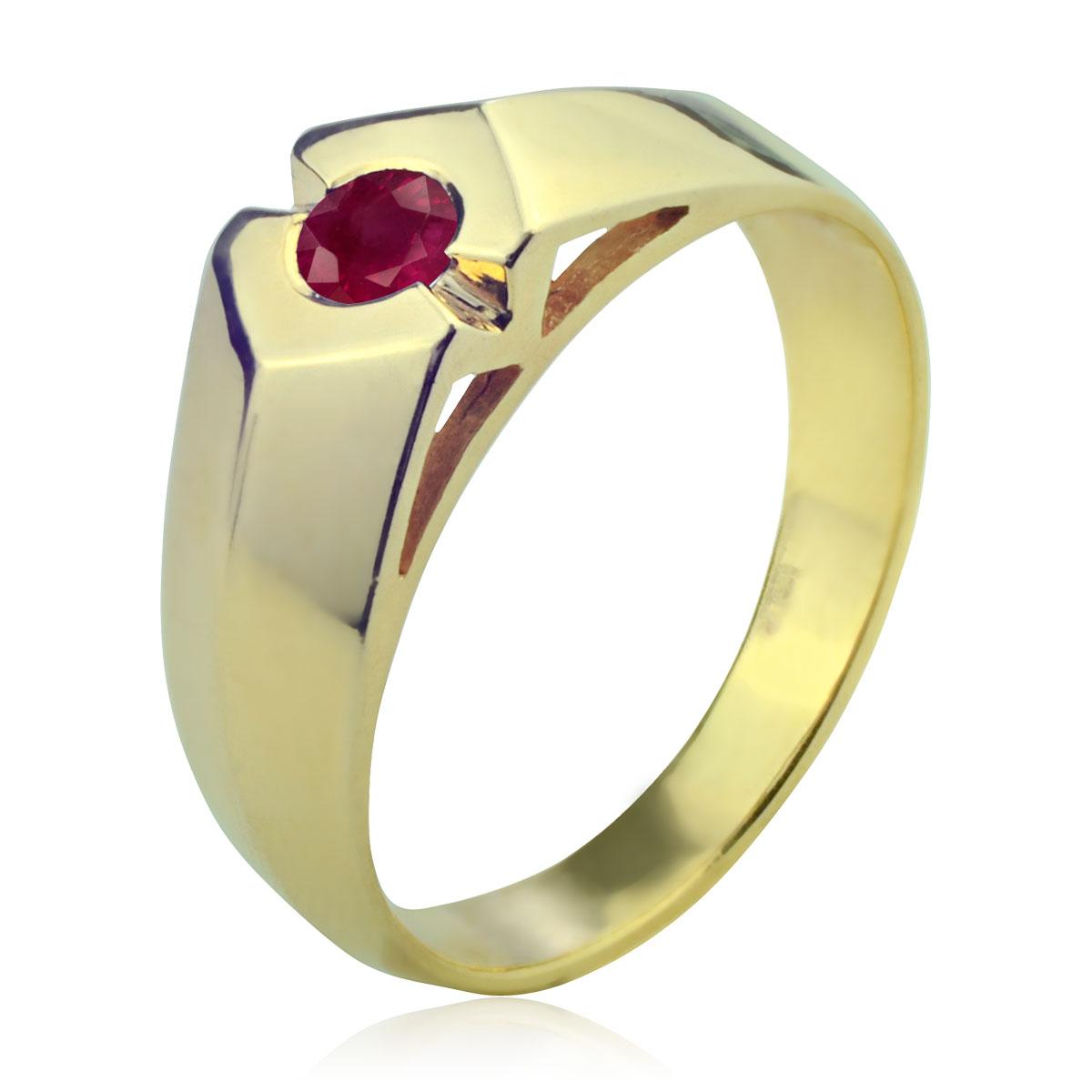 Мужской перстень рубин
