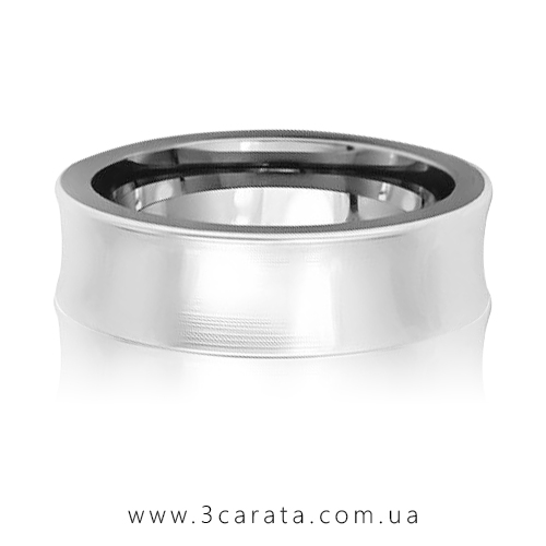 Обручальное кольцо вогнутое