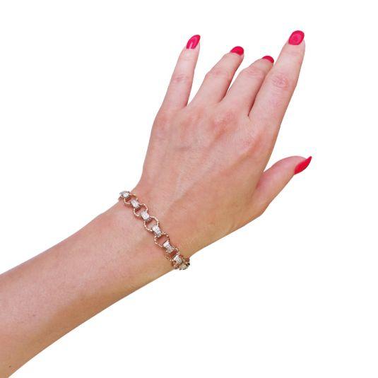 Золотой женский браслет 'Элен' с цирконием