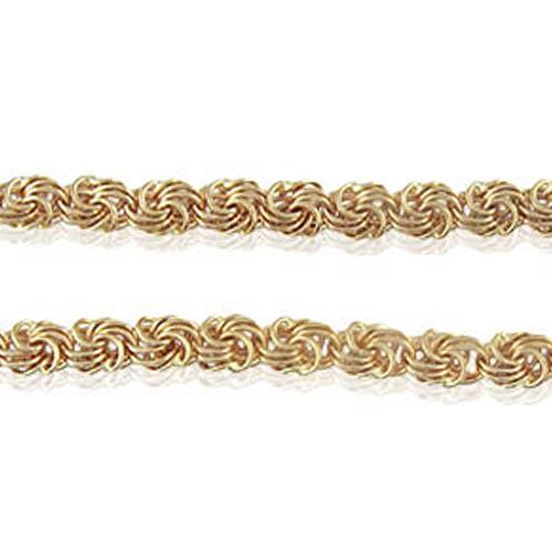 Золотой браслет плетения 'Роза'