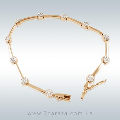 Золотой браслет с бриллиантами 'Эбигейл'