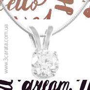 Золотой кулон с бриллиантом 'Ангел'
