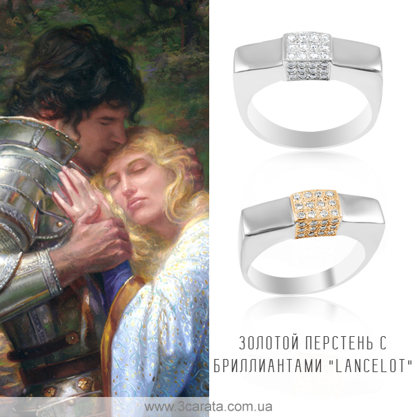 Золотой перстень бриллианты