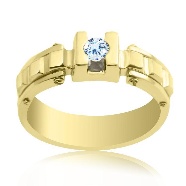 Золотий перстень діамант