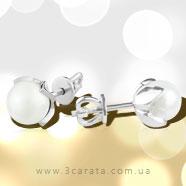 Золоті пусети з перлинами 'Bella Mare'