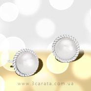 Золоті сережки з перлами 'Quirino'